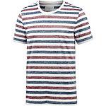ARMEDANGELS Dean T-Shirt Herren rot/blau/weiß
