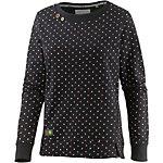 Ragwear Sweatshirt Damen schwarz gepunktet