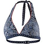 ESPRIT Rocky Beach Bikini Oberteil Damen blau/weiß