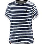 Naketano T-Shirt Damen dunkelblau/weiß