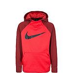 Nike Therma Hoodie Kinder orange / dunkelrot