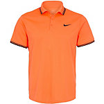 Nike Court Solid Tennis Polo Herren neonorange / schwarz