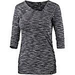 iriedaily 4 Space Asym Langarmshirt Damen schwarz/weiß