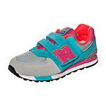 NEW BALANCE KV574-WTY-M Sneaker Kinder grau / türkis