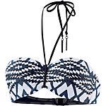 Seafolly Modern Tribe Bikini Oberteil Damen blau/grau/weiß
