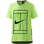 Nike Baseline Tennisshirt Herren neongrün