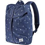 Herschel Post Mid-Volume Daypack dunkelblau/weiß