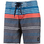 Protest Crime Badeshorts Herren blaugrau/orange