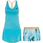 adidas Melbourne Tenniskleid Damen blau / neonorange