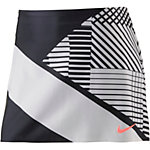 Nike Power Spin Tennisrock Damen schwarz/weiß