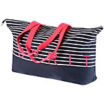 ESPRIT Minnesott Beach Strandtasche Damen navy/weiß/rot