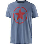 Alpha Industries T-Shirt Herren blau/rot