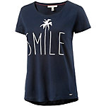 TOM TAILOR Printshirt Damen navy