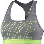 Nike Pro Classic Logo Read Sport-BH Damen grau/melange/hellgrün