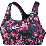 Nike Pro Classic Swoosh Sport-BH Damen pink/schwarz