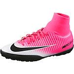 Nike JR MERCURIALX VICTORY 6 DF TF Fußballschuhe Kinder pink/schwarz