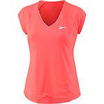 Nike Pure Tennisshirt Damen neonorange