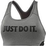 Nike Pro Classic Swoosh Cooling Sport-BH Damen CARBON HEATHER/BLACK/BLACK