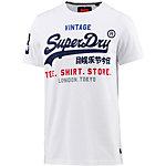 Superdry T-Shirt Herren weiß
