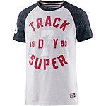 Superdry T-Shirt Herren hellgrau/navy