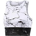 adidas Speed Crop Marble Tanktop Damen weiß/schwarz