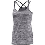 Nike Dri-Fit Knit Laufshirt Damen schwarz/melange