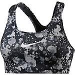Nike Pro Classic Swoosh Sport-BH Damen schwarz/grau