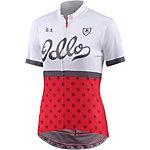 Odlo Ride Stand-Up Collar Fahrradtrikot Damen weiß/rot