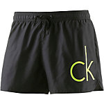 Calvin Klein Core Neon Placed Logo Badeshorts Herren schwarz