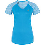 ASICS fuzeX V-Neck Laufshirt Damen blau