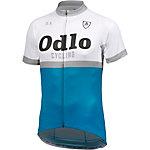 Odlo Ride Stand Up Fahrradtrikot Herren blau/weiß