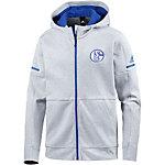 adidas Schalke 04 Kapuzenjacke Herren light grey heather