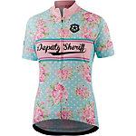 Deputy Sheriff Bella Italia Fahrradtrikot Damen rosa-hellblau