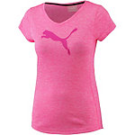 PUMA Heather Cat T-Shirt Damen knockout pink heather