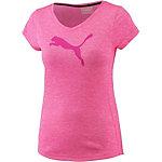 PUMA Heather Cat T-Shirt Damen knockout pink heather