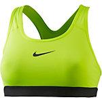 Nike Pro Classic Sport-BH Damen gelb/schwarz