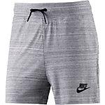 Nike Advanced Knit Shorts Damen weiß/schwarz