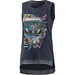 Only T-Shirt Damen ombre blue