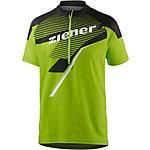 Ziener Percival Fahrradtrikot Herren grün/schwarz