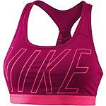 Nike Pro Classic Logo Read Sport-BH Damen beere/rosa