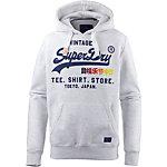 Superdry Sweatshirt Herren hellgrau meliert