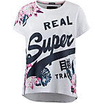 Superdry T-Shirt Damen weiß/bunt
