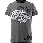 Superdry T-Shirt Herren grau meliert