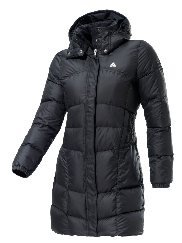 Adidas Daunenmantel Damen in schwarz, Größe M