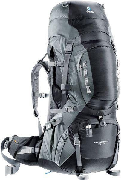 Aircontact Pro 70+15 Trekkingrucksack in schwarz
