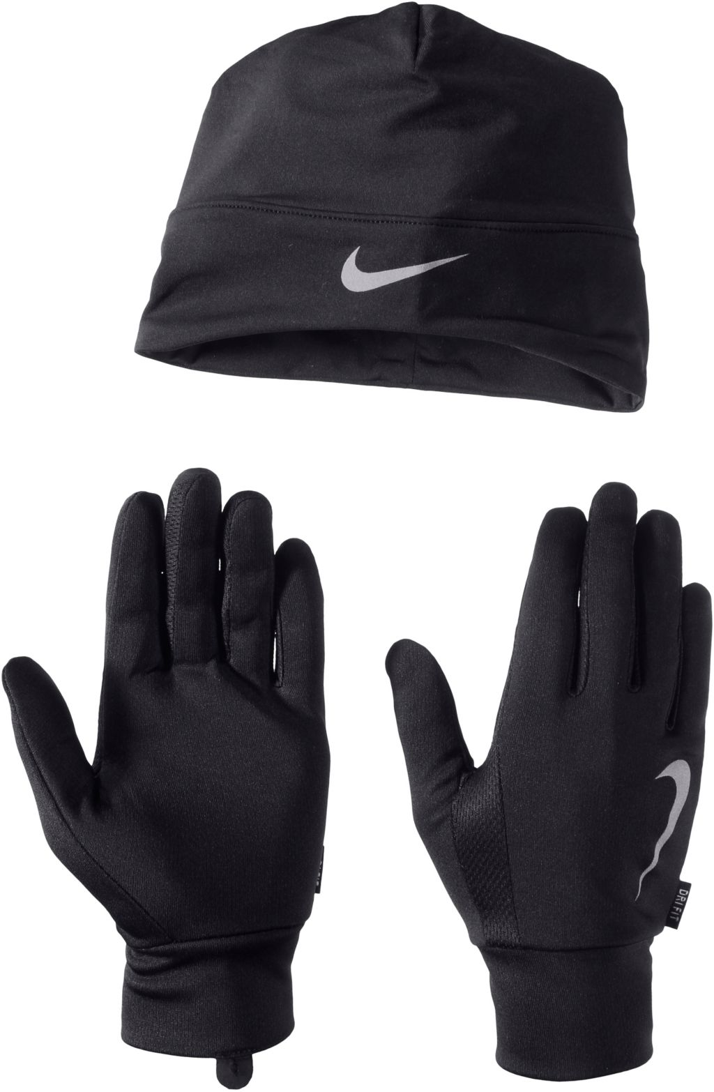 Set Mütze/Handschuhe Set aus Mütze und Schal in schwarz, Größe XL
