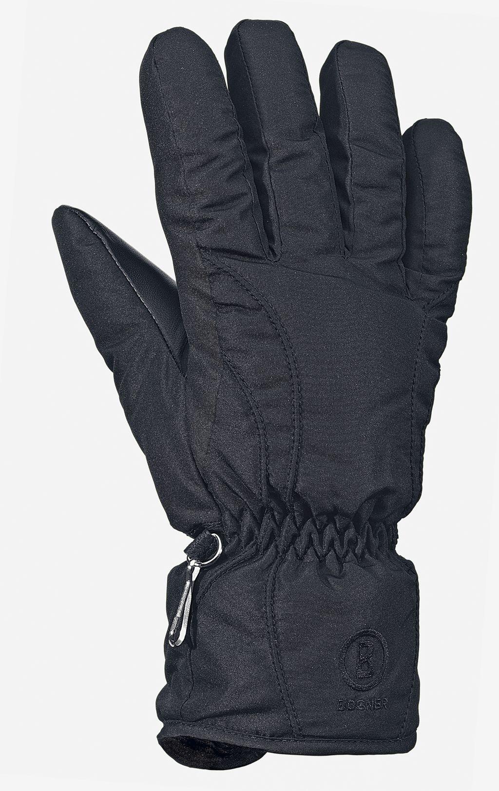 Skihandschuhe Damen in schwarz, Größe 6