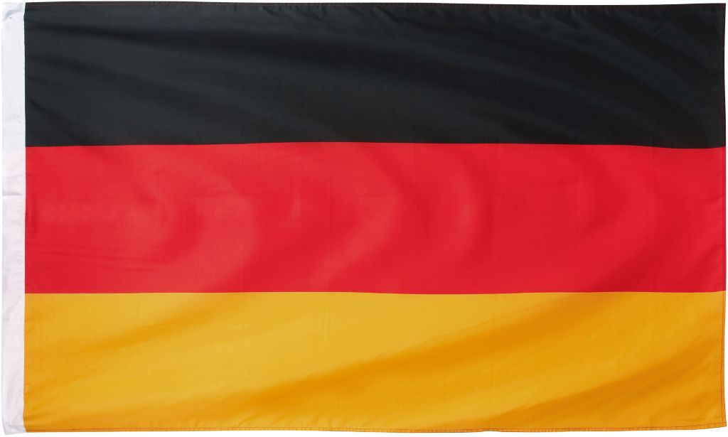 Deutschland Fahne in schwarz/rot/goldfarben