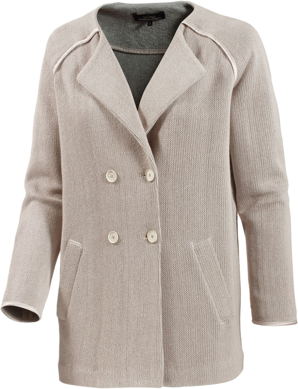 Campus Strickmantel Damen in beige, Größe L