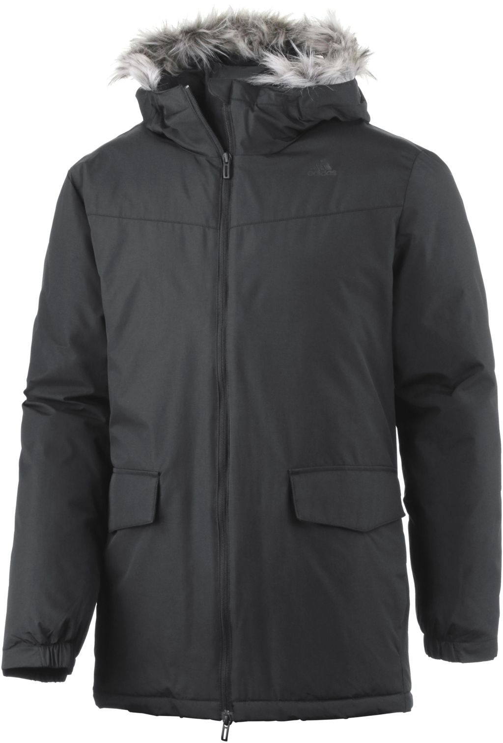 Adidas Synthetic Long Winterjacke Herren in schwarz, Größe L